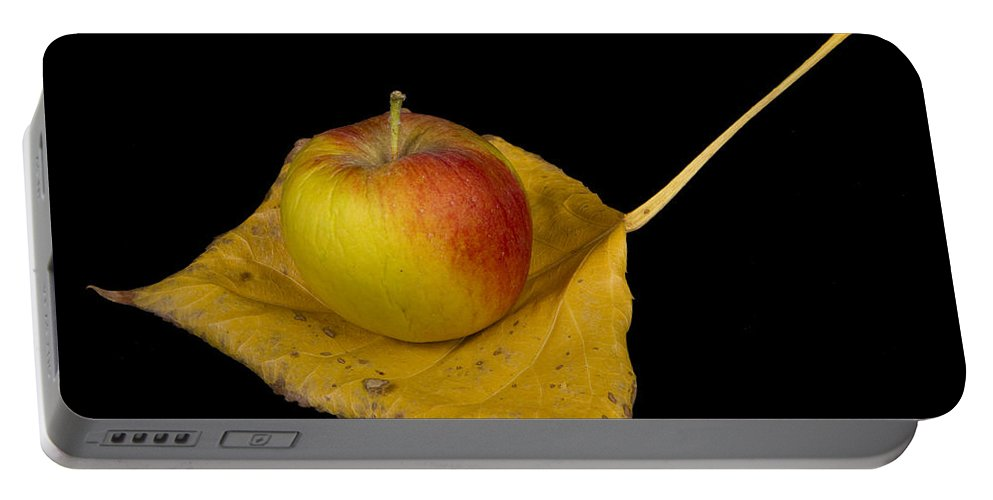 Apple Portable Battery Charger featuring the photograph Apple Harvest Autumn Leaf by James BO Insogna
