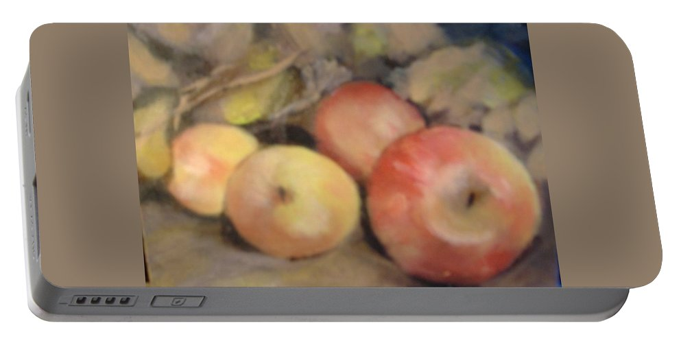Fruit Portable Battery Charger featuring the painting Apples by Pat Snook