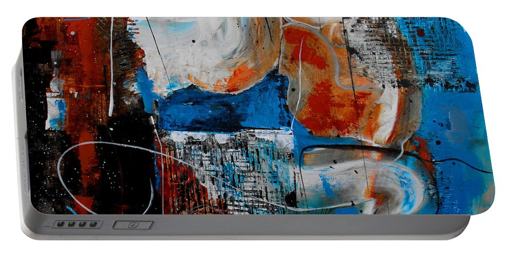 ruth Palmer Portable Battery Charger featuring the painting Approach The Throne by Ruth Palmer