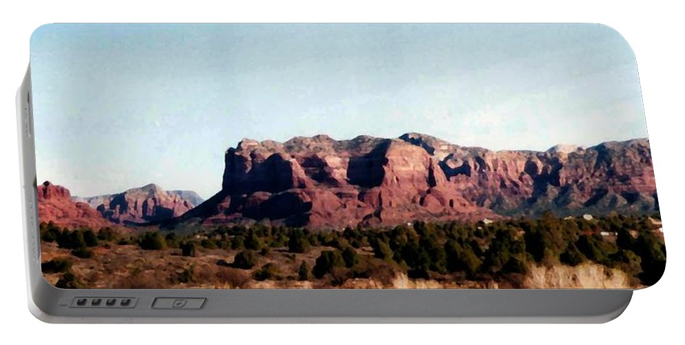 Sedona Portable Battery Charger featuring the photograph Approaching Sedona by Pharris Art