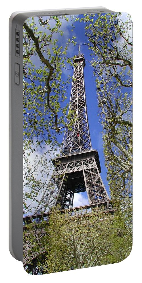 Paris Portable Battery Charger featuring the photograph April In Paris by Tom Reynen
