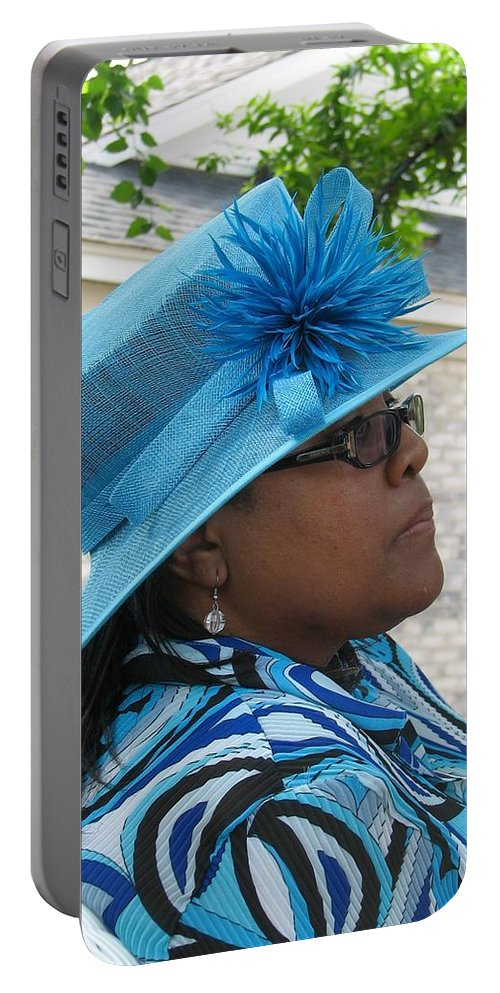 Hat Portable Battery Charger featuring the photograph April by Kelly Mezzapelle