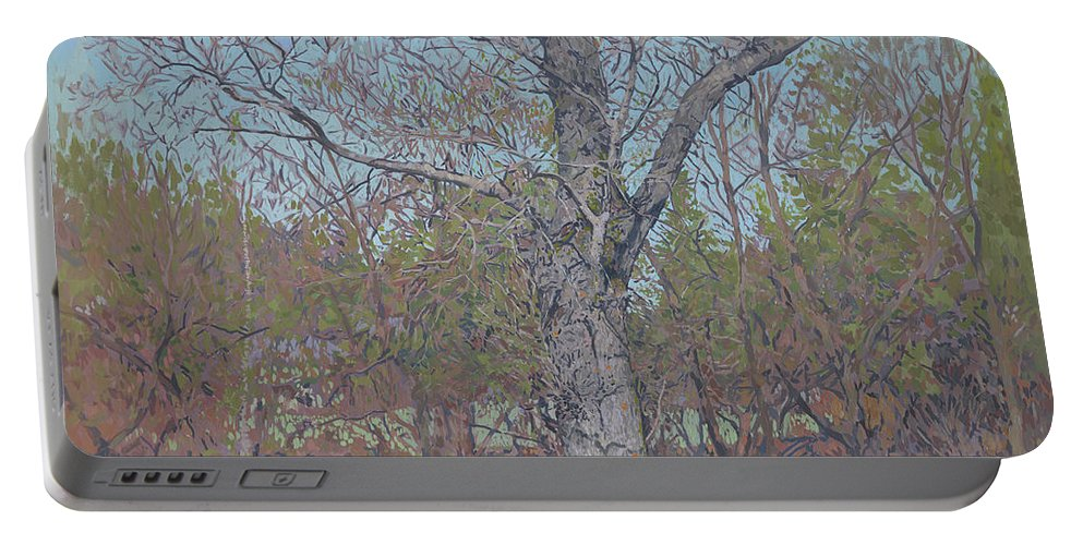 April Portable Battery Charger featuring the painting April by Simon Kozhin