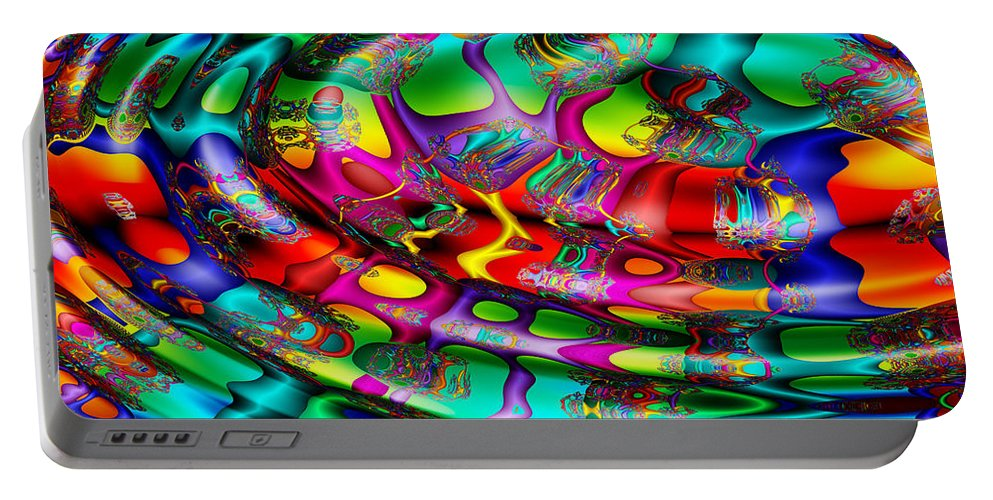 Multicolor Portable Battery Charger featuring the digital art April's Fool by Robert Orinski