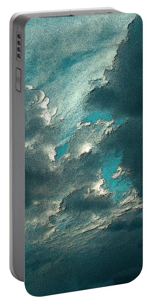 Lookup Portable Battery Charger featuring the photograph Aqua Sky by Mykel Davis