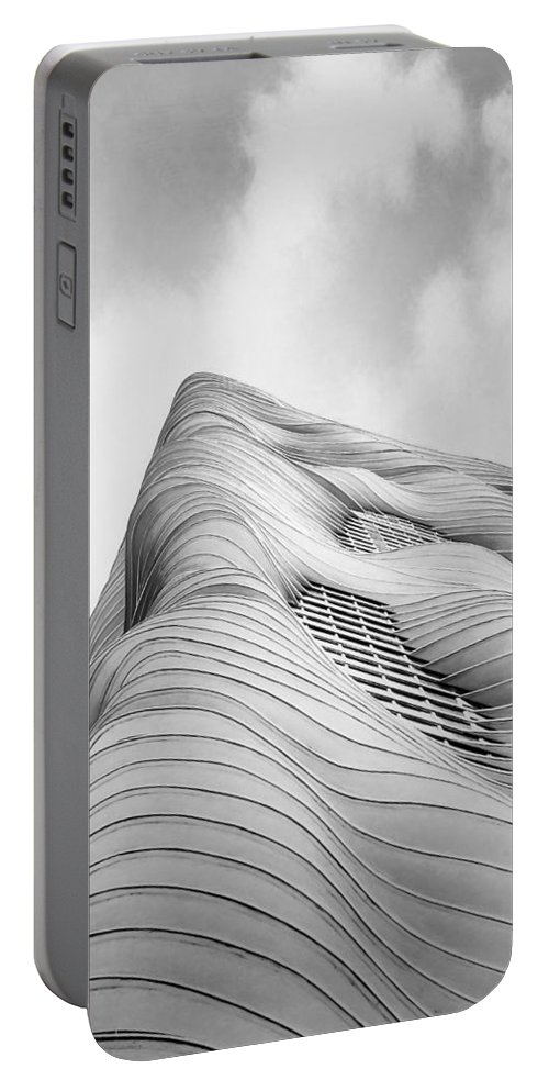 Architecture Portable Battery Charger featuring the photograph Aqua Tower by Scott Norris