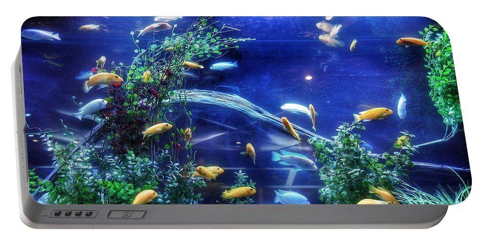 Colorful Tropical Fish Portable Battery Charger featuring the photograph Aquarium Fish by John Myers