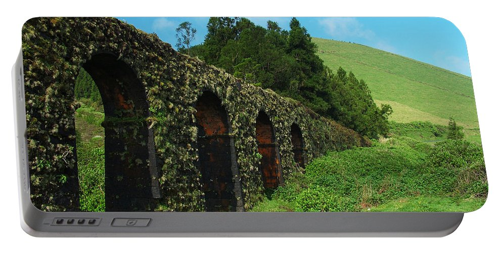 Ancient Portable Battery Charger featuring the photograph Aqueduct by Gaspar Avila