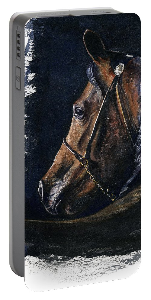 Horse Portable Battery Charger featuring the painting Arabian by John D Benson