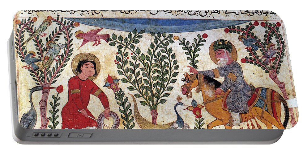 12th Century Portable Battery Charger featuring the photograph Arabic Physician by Granger