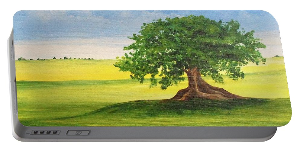 Alicia Maury Prints Portable Battery Charger featuring the painting Arbol De Ceiba by Alicia Maury