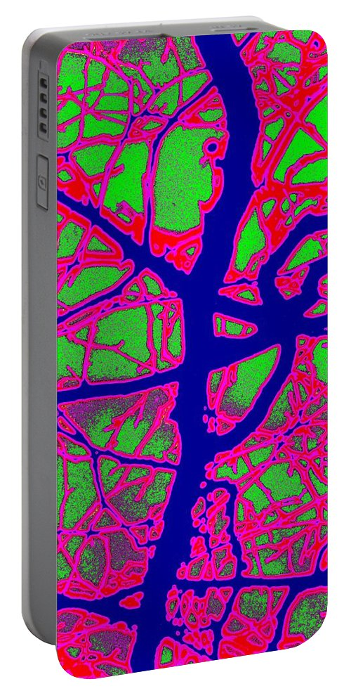 Abstract Portable Battery Charger featuring the digital art Arbor Mist 2 by Tim Allen