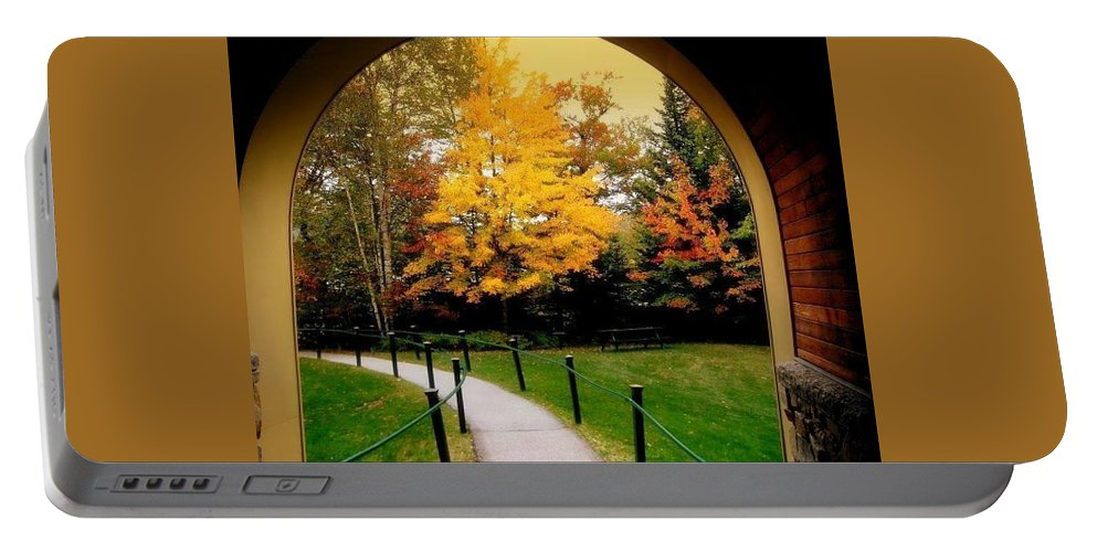 Portable Battery Charger featuring the photograph Arch by Tina Newcomb