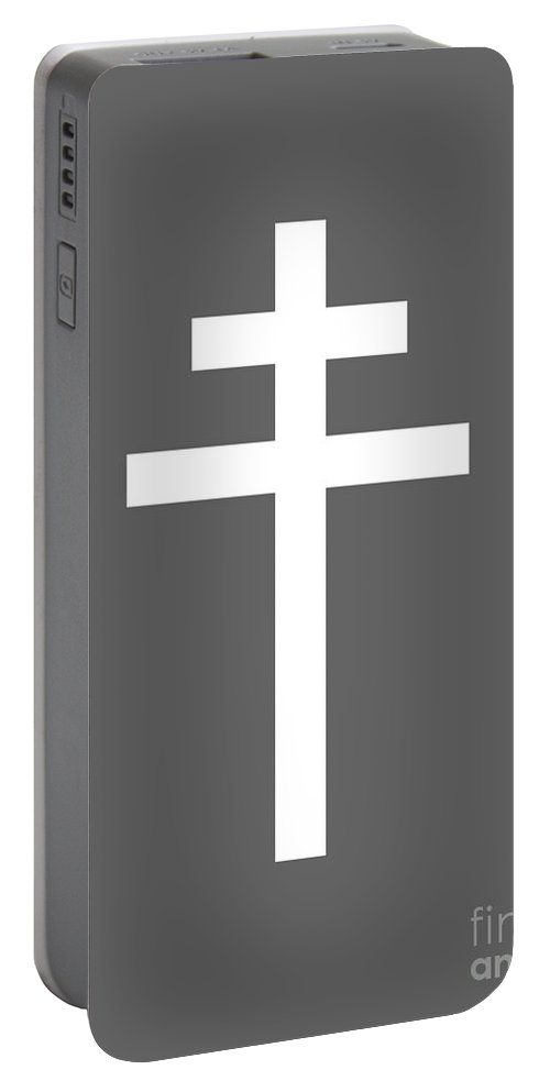 Rainbow Portable Battery Charger featuring the digital art Archbishop's Cross by Frederick Holiday