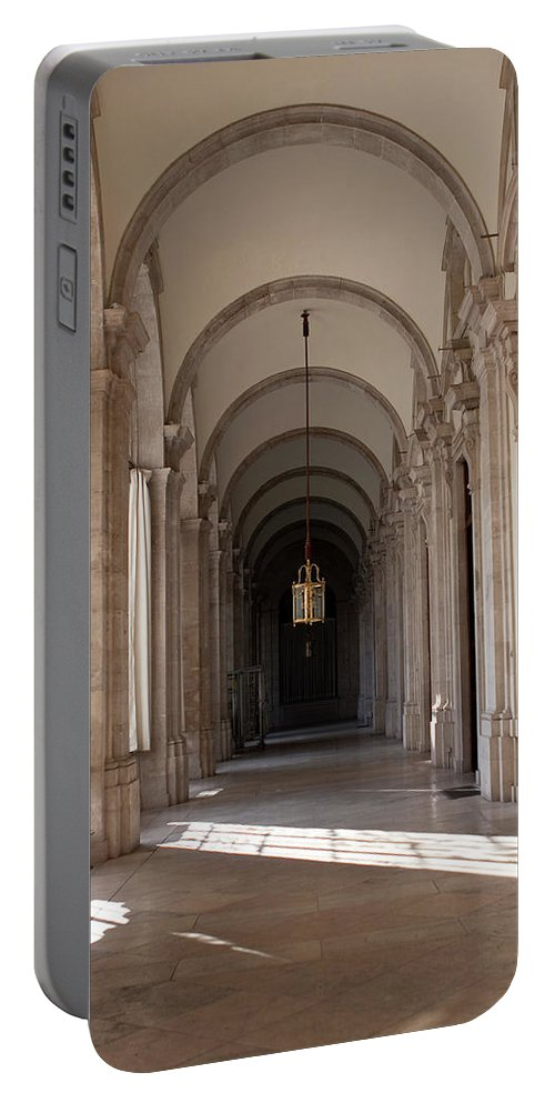 Madrid Portable Battery Charger featuring the photograph Arched And Elegant by Lorraine Devon Wilke