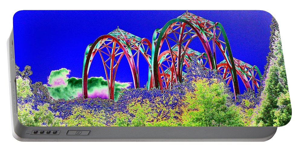 Seattle Portable Battery Charger featuring the photograph Arches 6 by Tim Allen