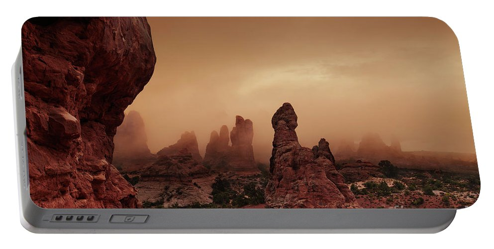 America Portable Battery Charger featuring the photograph Arches National Park by Dmitry Pichugin