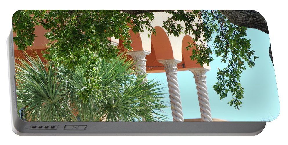 Architecture Portable Battery Charger featuring the photograph Arches Thru The Trees by Rob Hans