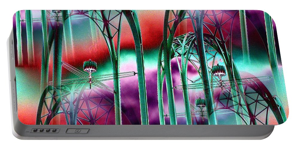 Seattle Portable Battery Charger featuring the digital art Arches by Tim Allen