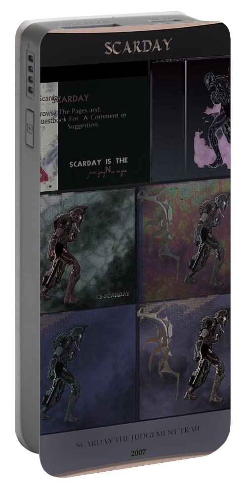 Fantasy Art Portable Battery Charger featuring the digital art Archieve I by Taylan Fidan