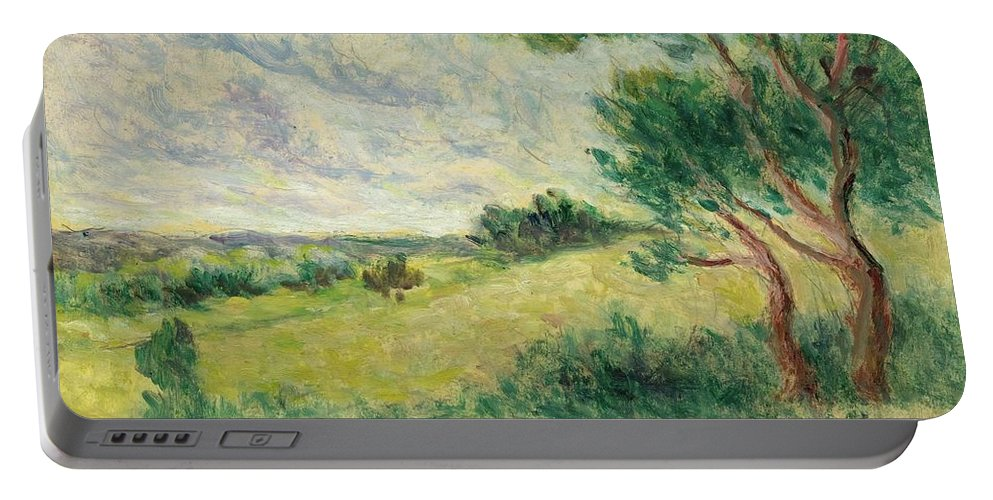 Luce Portable Battery Charger featuring the painting Arcy Sur Cure by MotionAge Designs