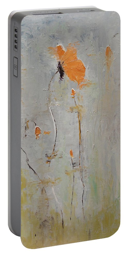 Floral Portable Battery Charger featuring the painting Aria by Barbara Andolsek