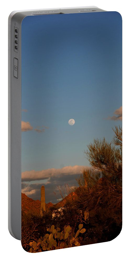 Arizona Portable Battery Charger featuring the photograph Arizona Moon II by Susanne Van Hulst