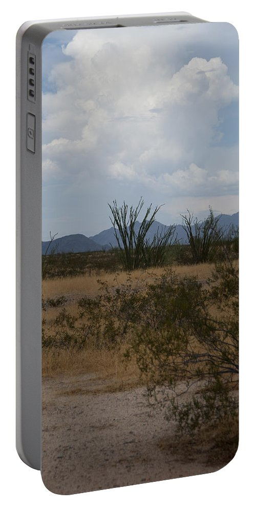Arizona Portable Battery Charger featuring the photograph Arizona Rest Stop by Steven Natanson