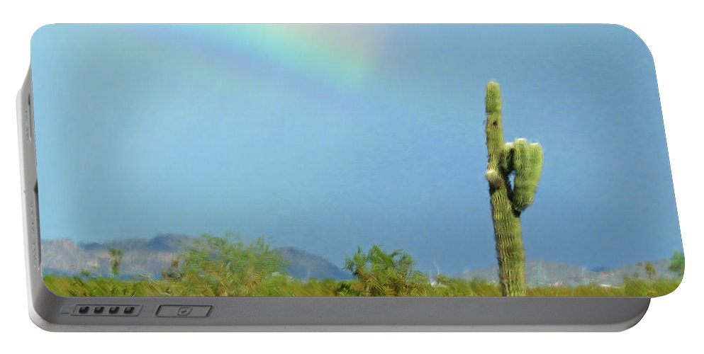 Arizona Sunday Afternoon Portable Battery Charger featuring the photograph Arizona Sunday Afternoon by Methune Hively