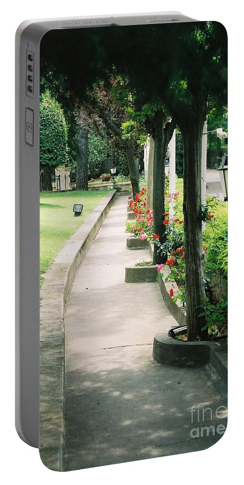 Arles Portable Battery Charger featuring the photograph Arles Walkway by Nadine Rippelmeyer