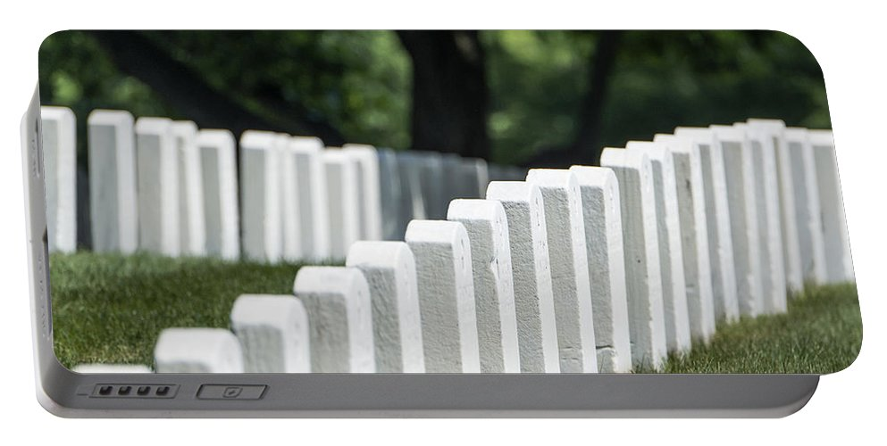America Portable Battery Charger featuring the photograph Arlington Cemetery by John Greim