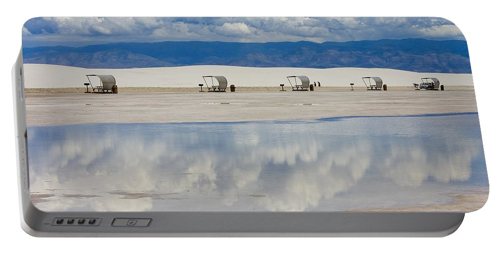 New Mexico Portable Battery Charger featuring the photograph Armageddon Picnic by Skip Hunt