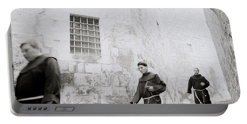 Jerusalem Portable Battery Charger featuring the photograph Armenian Quarter Jerusalem by Shaun Higson