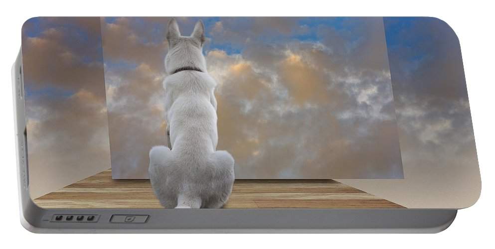 Ron Jones Portable Battery Charger featuring the digital art Art Appreciation by Ron Jones