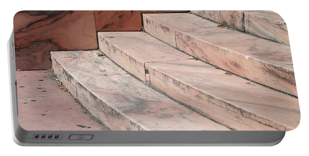 Architecture Portable Battery Charger featuring the photograph Art Deco Steps by Rob Hans