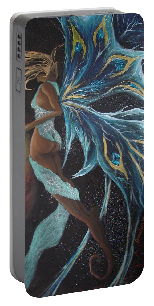 Figure Portable Battery Charger featuring the painting Art Is Magic by Glory Fraulein Wolfe