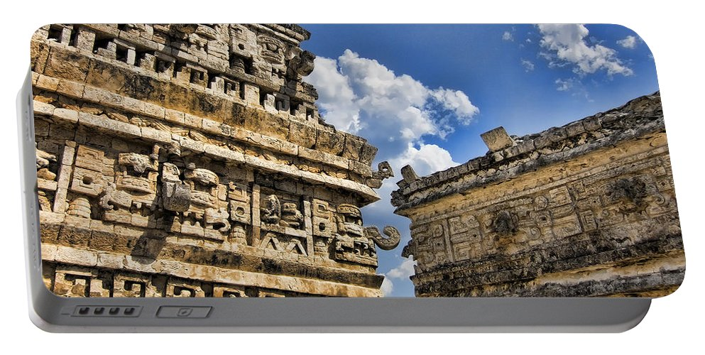 Chichen Itza Ruins Portable Battery Charger featuring the photograph Art Of Architecture by Douglas Barnard