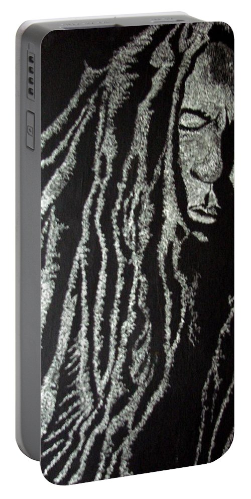 Portrait Portable Battery Charger featuring the painting Art Of Freedom by Glory Fraulein Wolfe