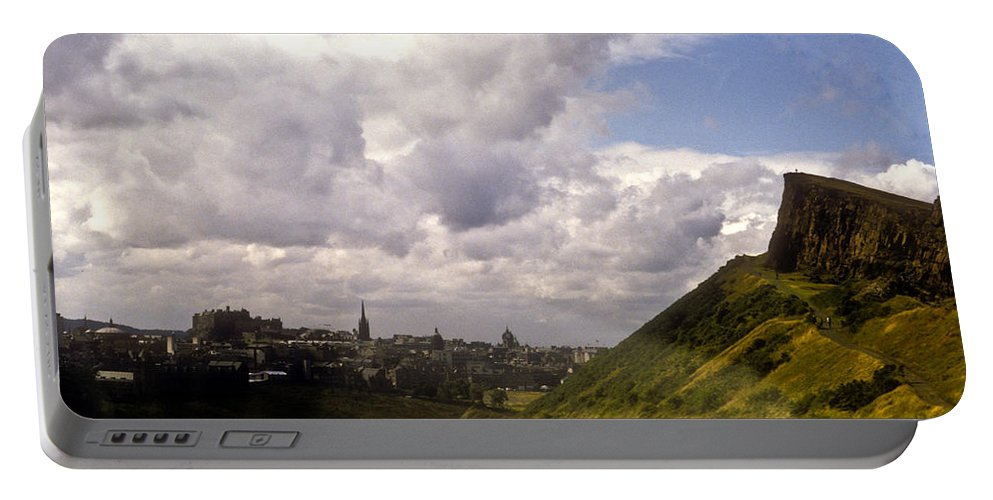Edinburgh Portable Battery Charger featuring the photograph Arthurs Seat Edinburgh by Douglas Barnett