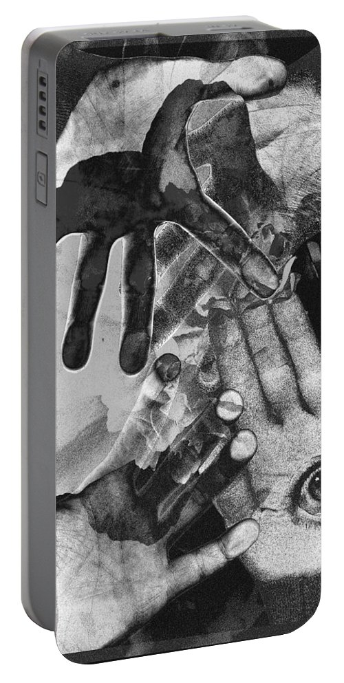 Hands Portable Battery Charger featuring the photograph Artist's Hands by Nancy Mueller
