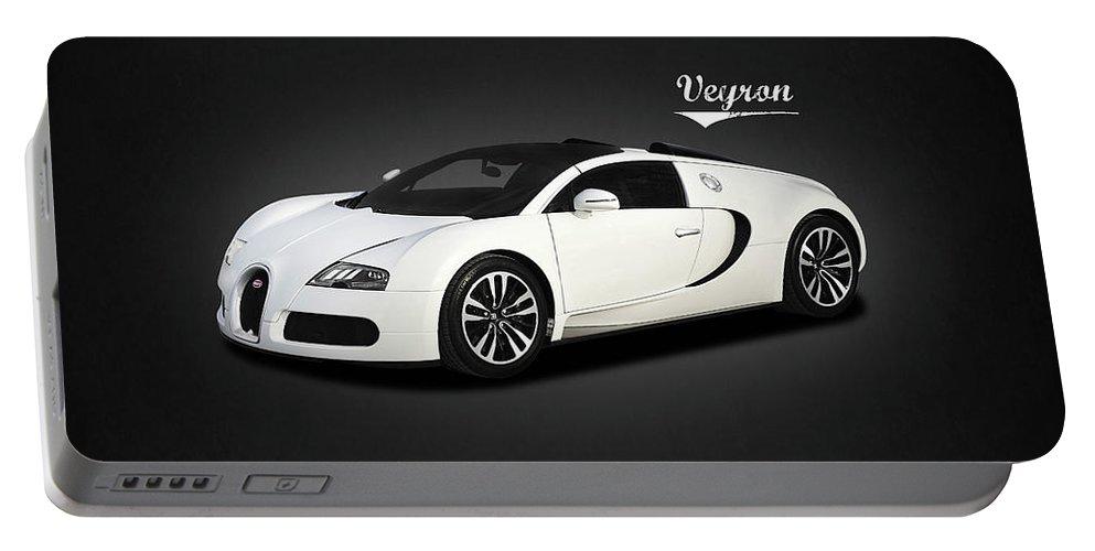 Bugatti Veyron Portable Battery Charger featuring the photograph Bugatti Veyron by Mark Rogan