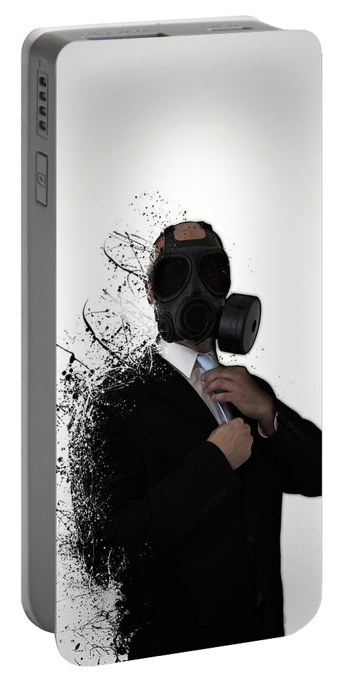 Gas Portable Battery Charger featuring the photograph Dissolution of man by Nicklas Gustafsson