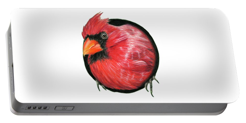 Cardinals Portable Battery Charger featuring the painting Red And Green by Sarah Batalka