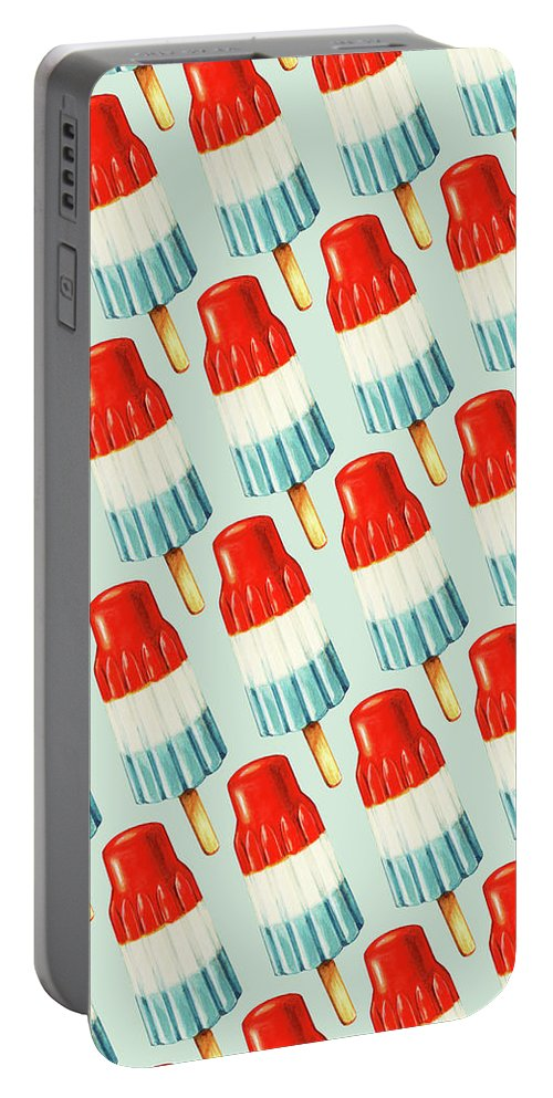 Bomb Pop Pattern Portable Battery Charger