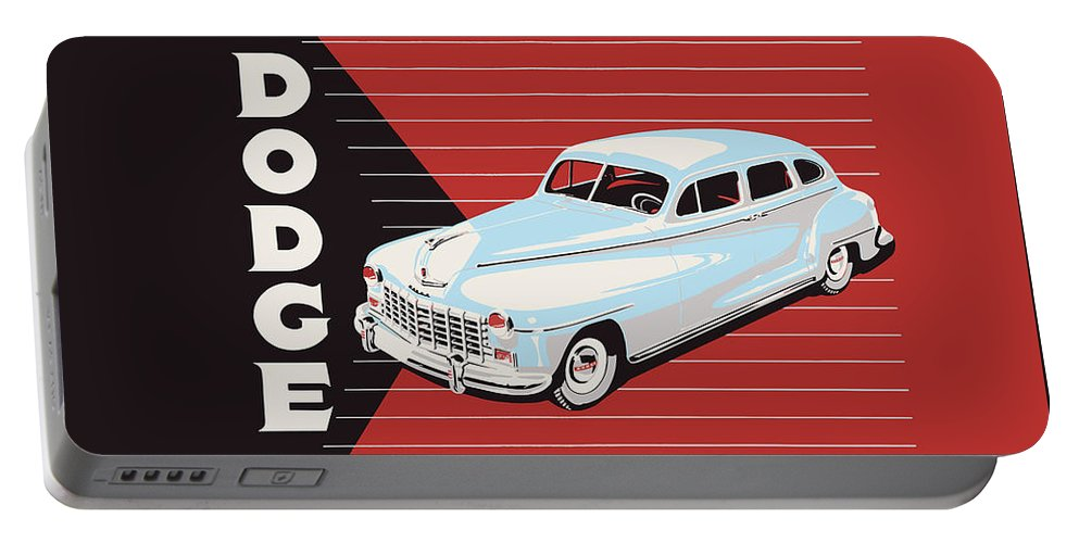 Dodge Showroom Poster Portable Battery Charger featuring the photograph Dodge Showroom Poster by Mark Rogan