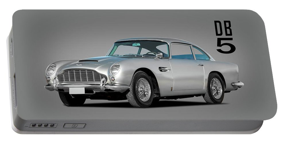 Aston Martin Db5 Portable Battery Charger featuring the photograph Aston Martin Db5 by Mark Rogan