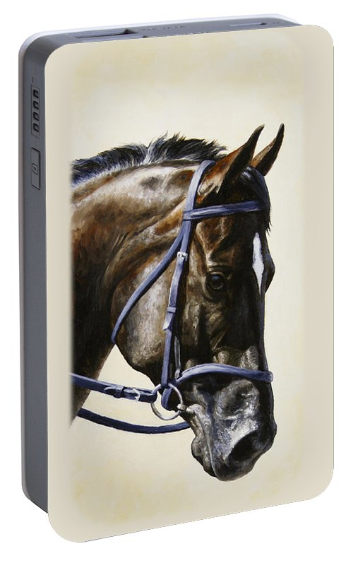 Horse Portable Battery Charger featuring the painting Dressage Horse - Concentration by Crista Forest