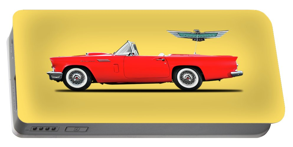 Ford Thunderbird 1957 Portable Battery Charger featuring the photograph Ford Thunderbird 1957 by Mark Rogan