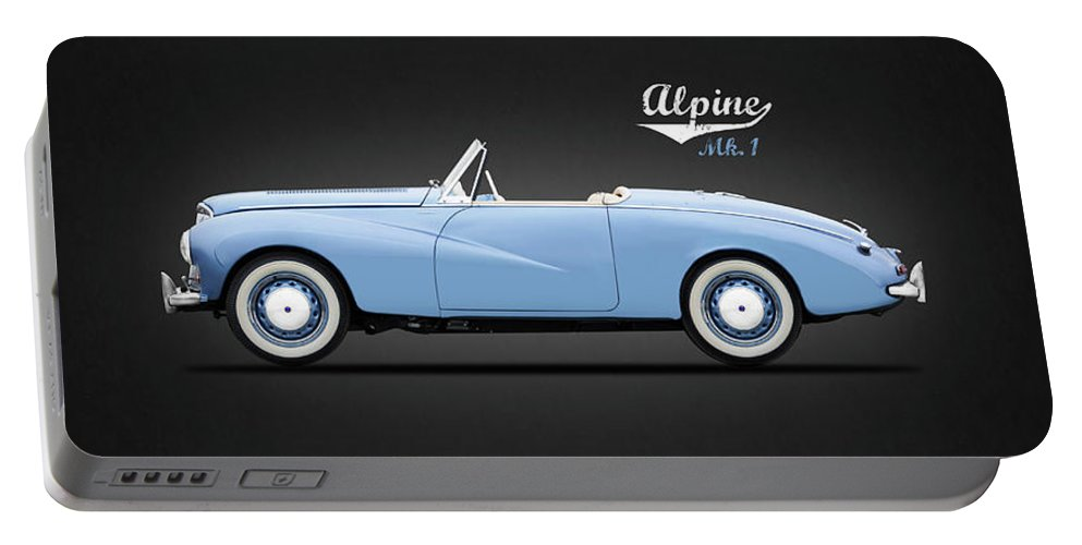 Sunbeam Alpine Sport 1953 Portable Battery Charger featuring the photograph Sunbeam Alpine Sport 1953 by Mark Rogan