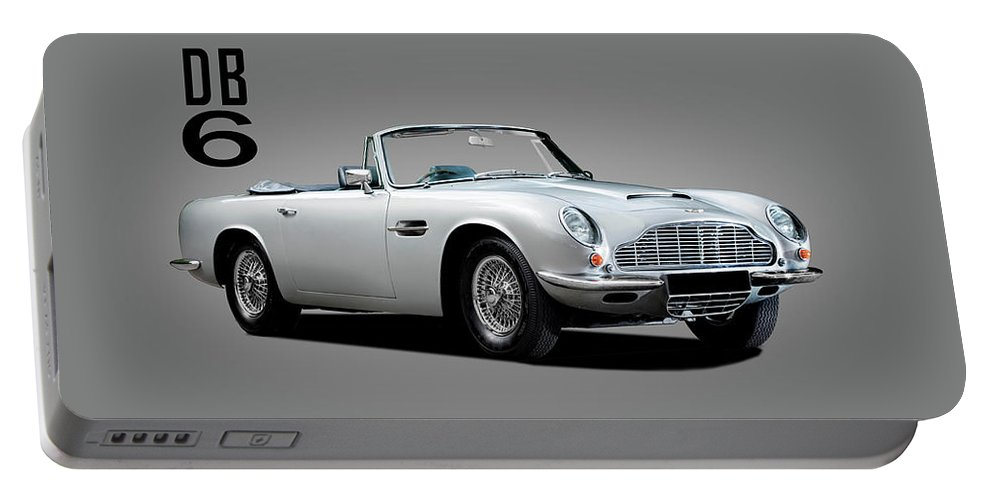 Aston Martin Portable Battery Charger featuring the photograph Aston Martin Db6 by Mark Rogan